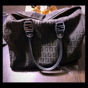 Black Fendi Boston Bag